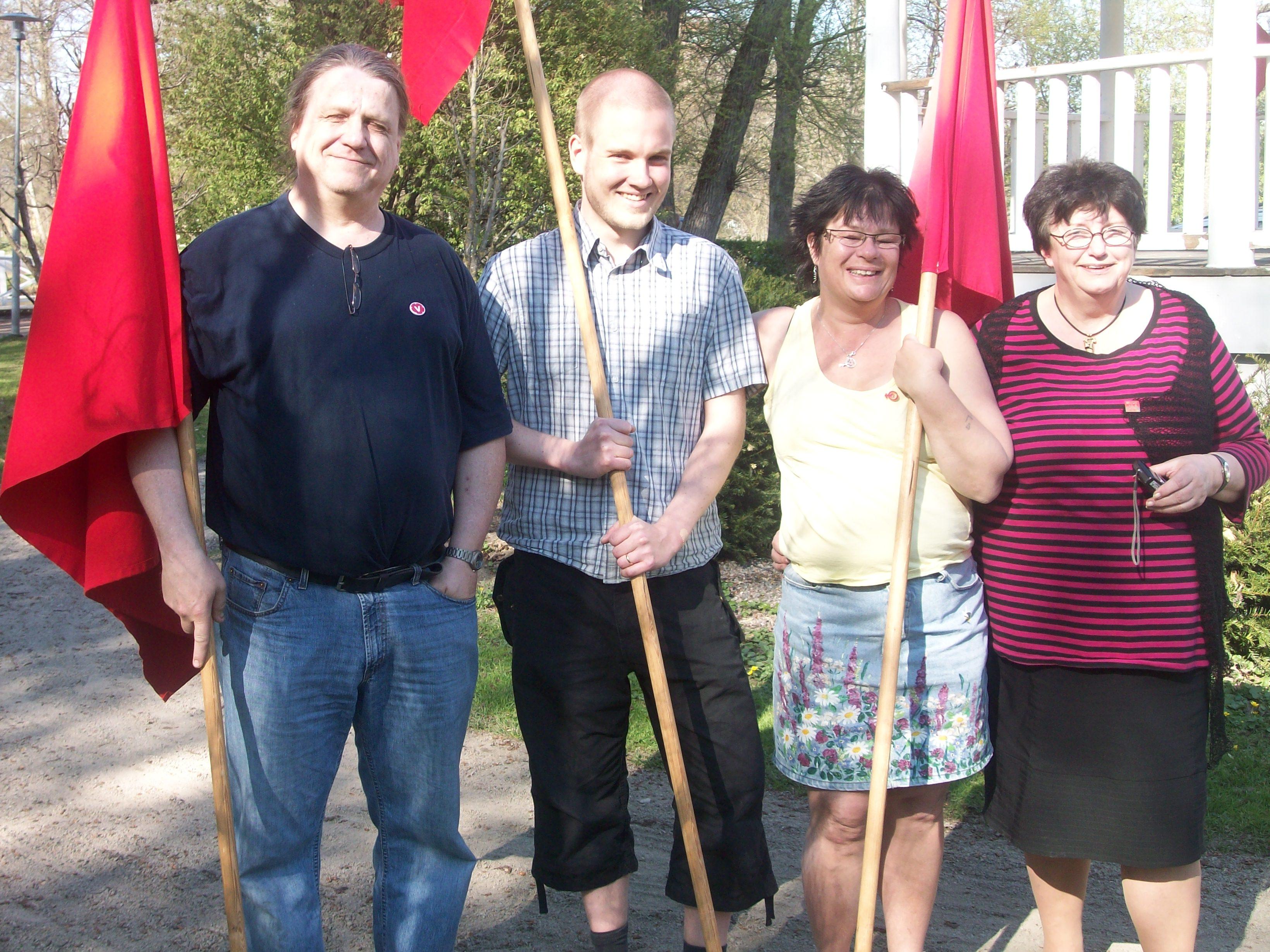 Sven Viklund, Fredrik Hallor, Lotta Johansson Arnqvist och Gunnel Söderström