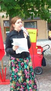 Torgmöte med Vasiliki Tsouplaki